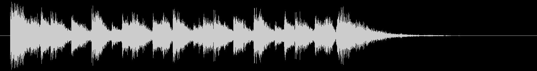 ダークエキサイティングK-POPジングルの未再生の波形