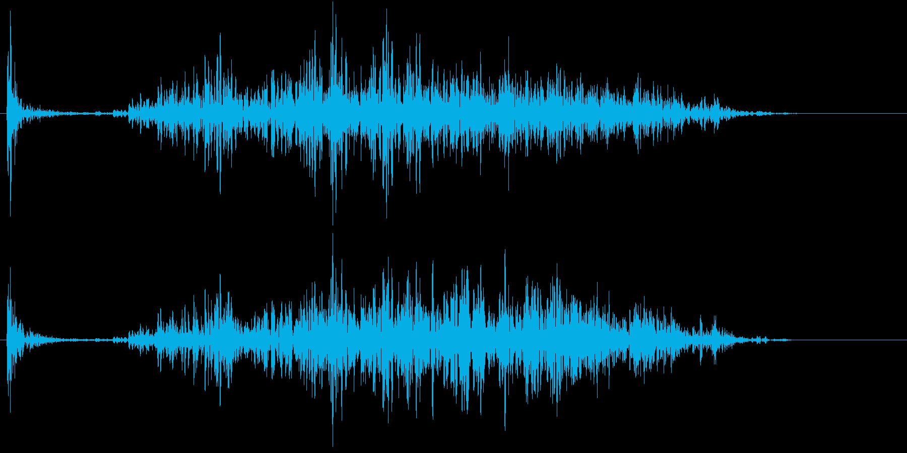 【生録音】ペンで書く音 机 9の再生済みの波形