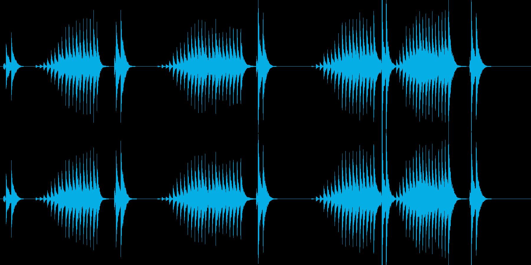 大太鼓18波音歌舞伎情景描写和風和太鼓江の再生済みの波形