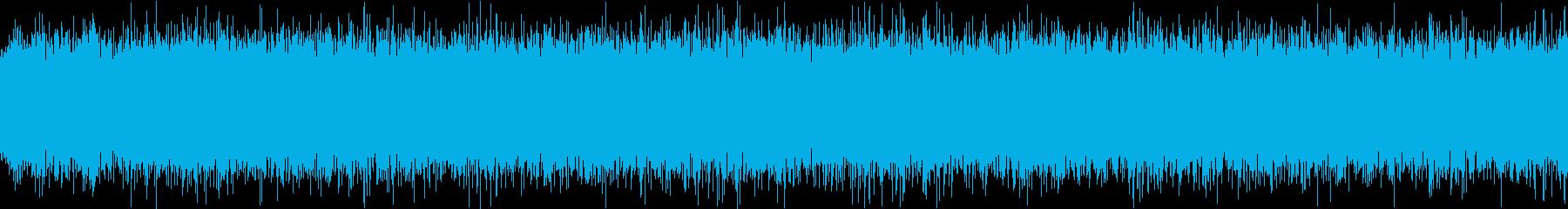 ザァー(FMラジオのノイズF)ループ処理の再生済みの波形