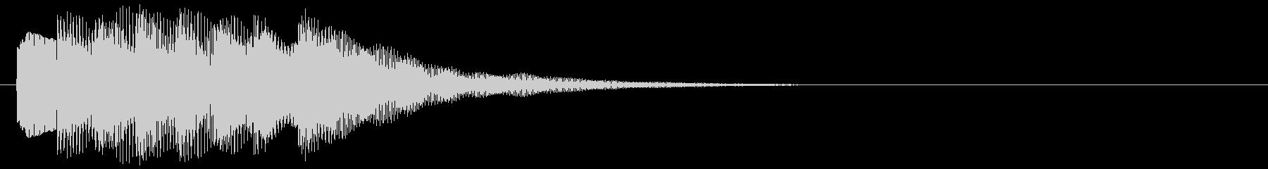 アラーム音09 キラキラ(maj)の未再生の波形