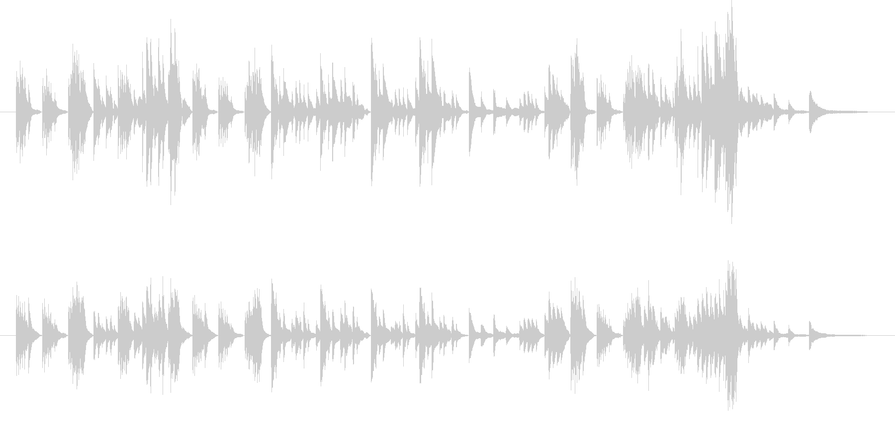 モーツァルトのようなクラシカルピアノの未再生の波形