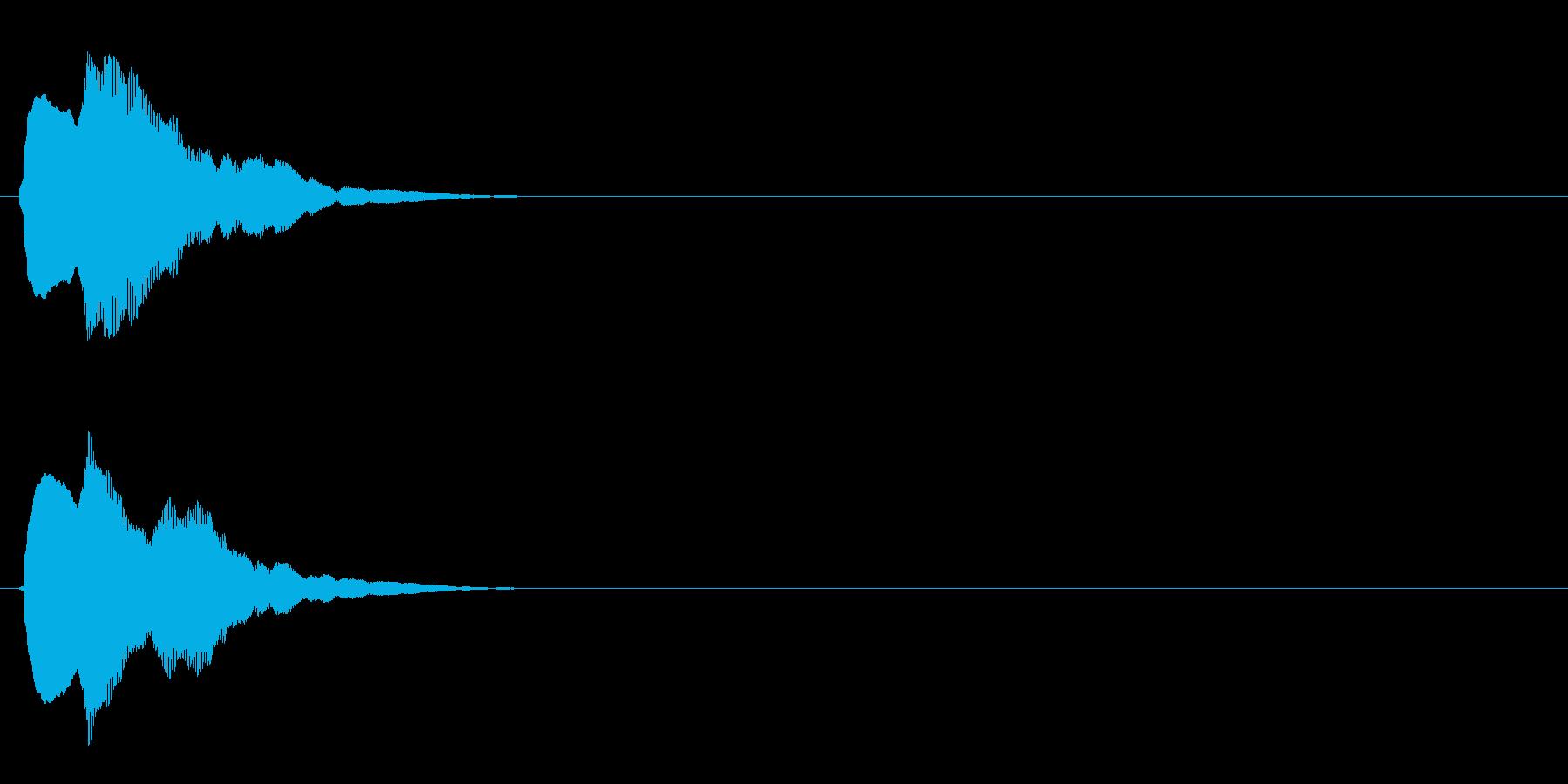 汎用 キラキラ系02(小) キャンセル音の再生済みの波形
