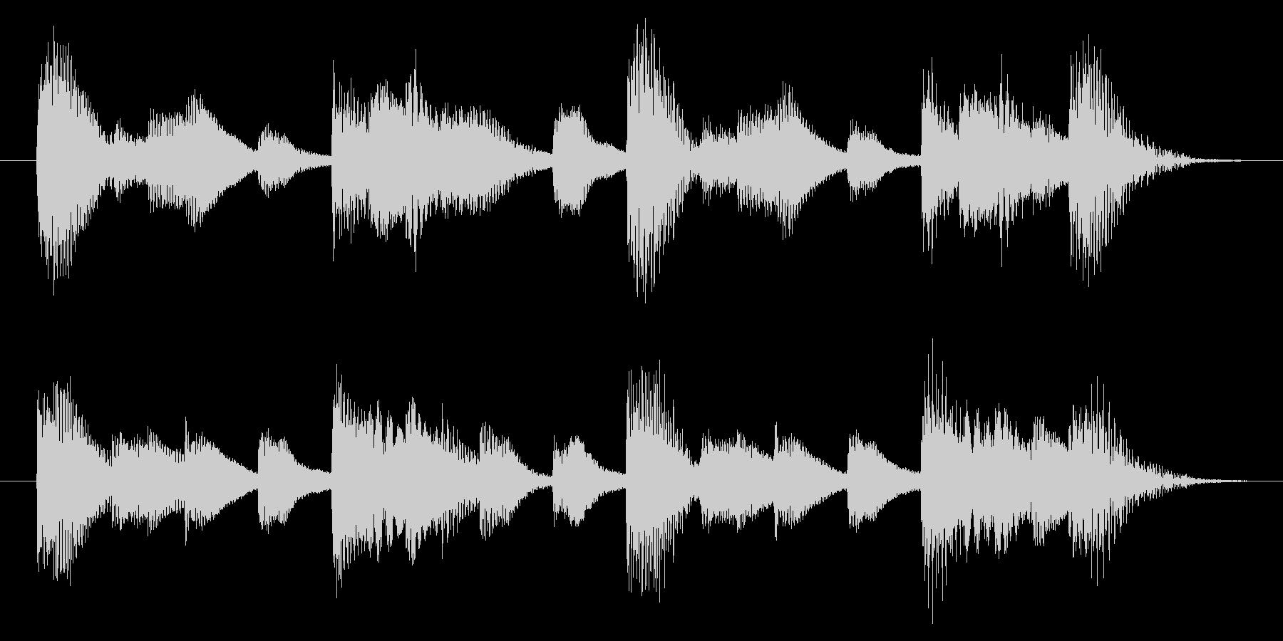 明るく歯切れの良いピアノジングル 5秒の未再生の波形