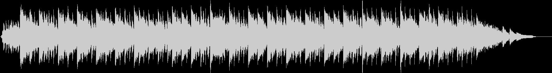 幻想的なハイブリッドエレクトロサウンドの未再生の波形