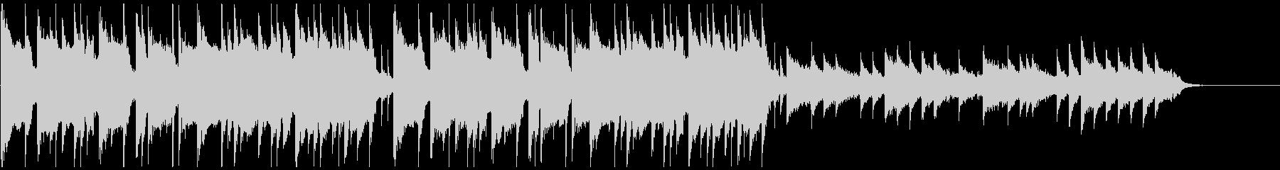 ピアノメインの和風ダークトラップビートの未再生の波形