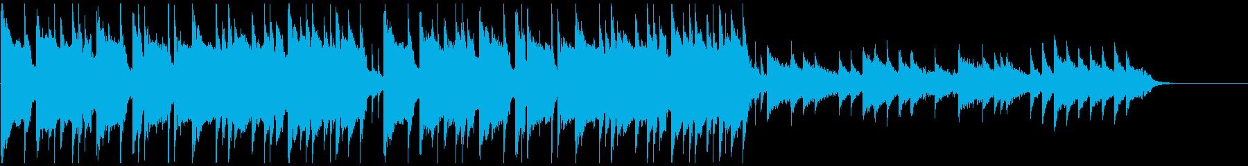 ピアノメインの和風ダークトラップビートの再生済みの波形