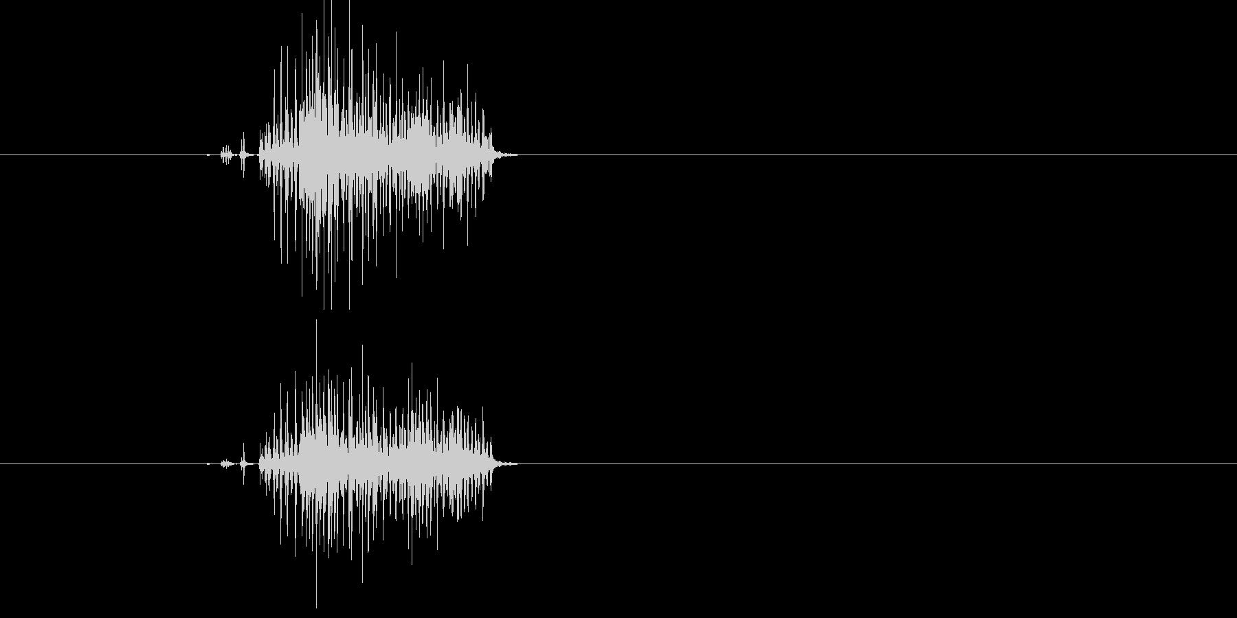ジー!虫のような何かが動く音の未再生の波形