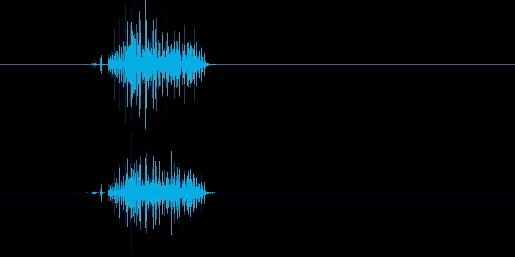 ジー!虫のような何かが動く音の再生済みの波形