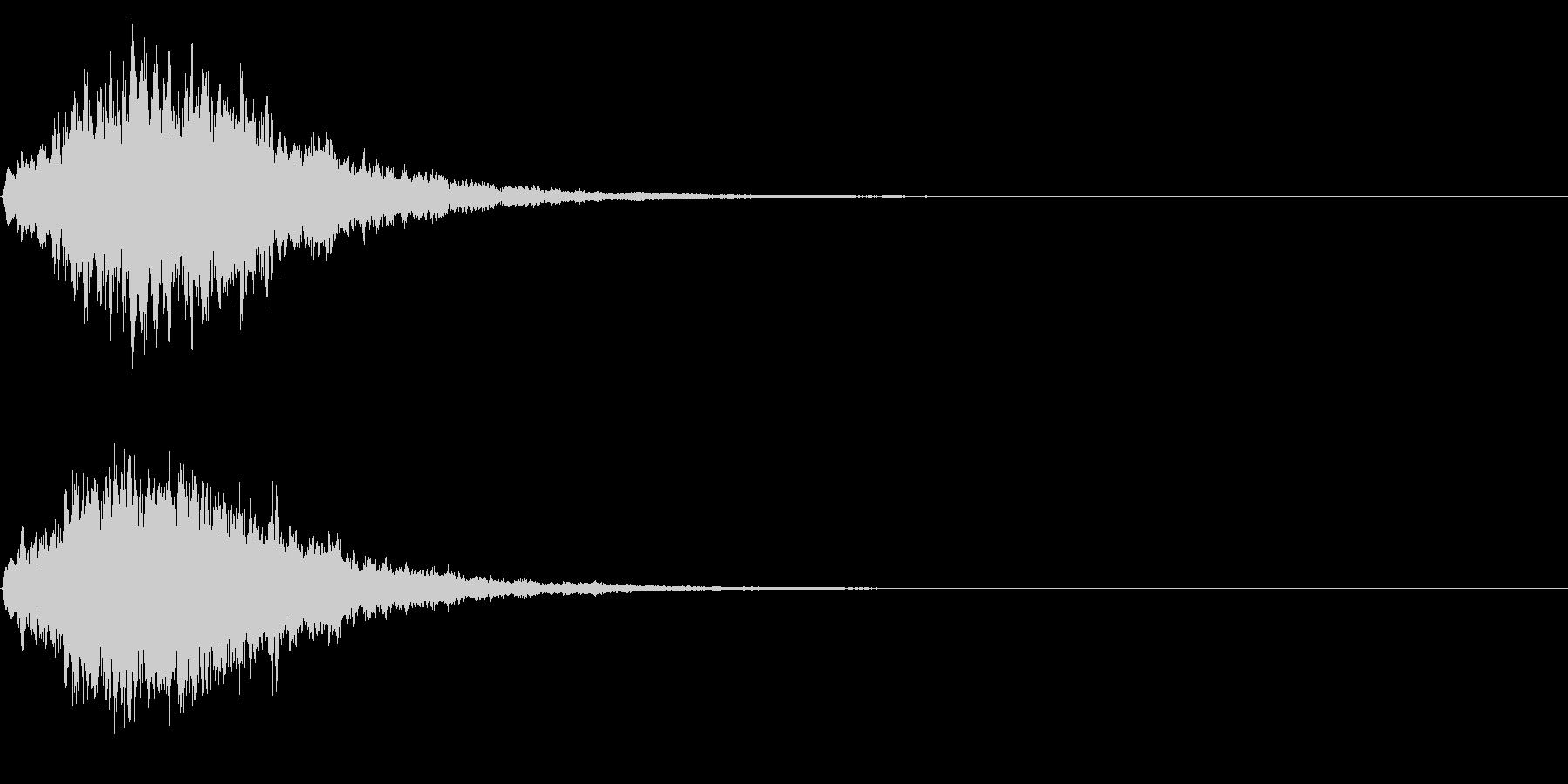 ゲームスタート、決定、ボタン音-151の未再生の波形