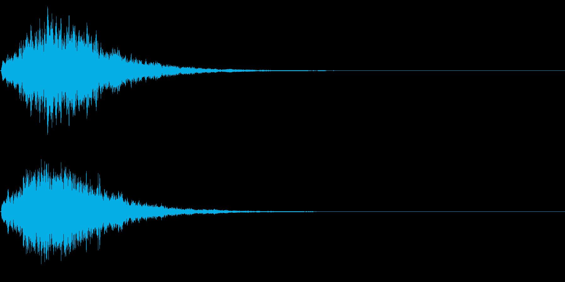 ゲームスタート、決定、ボタン音-151の再生済みの波形