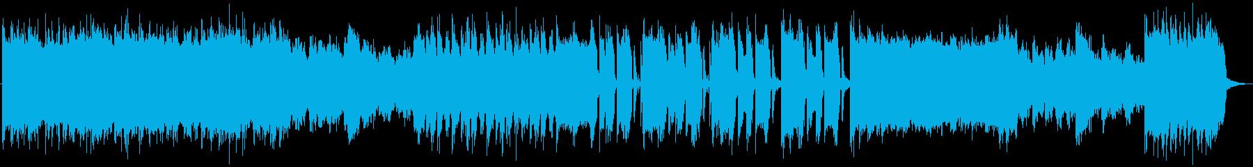 映像向けの重量感のあるヘヴィメタルの再生済みの波形