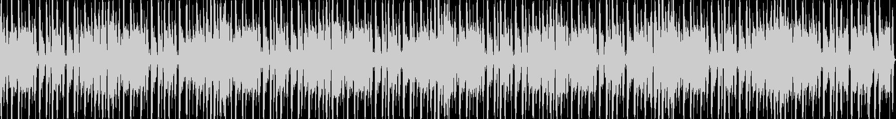 コロコロとした可愛らしいループBGMの未再生の波形