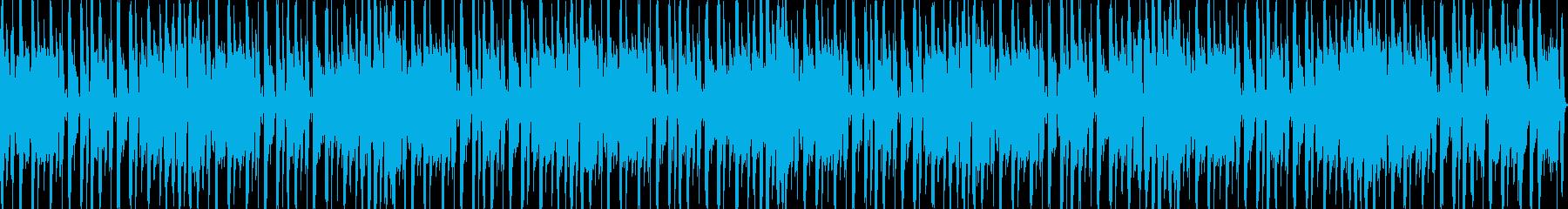 コロコロとした可愛らしいループBGMの再生済みの波形