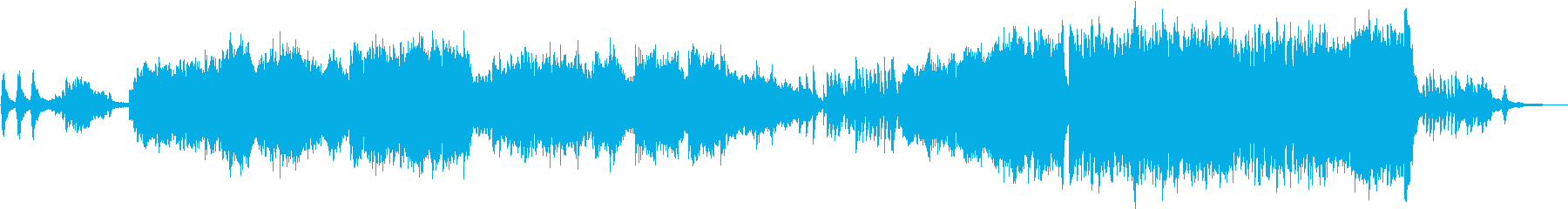 物悲しい雰囲気のピアノトリオの再生済みの波形