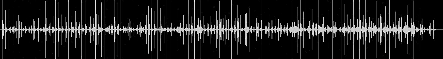 バイノーラル足音歩く2サンダル_左の未再生の波形
