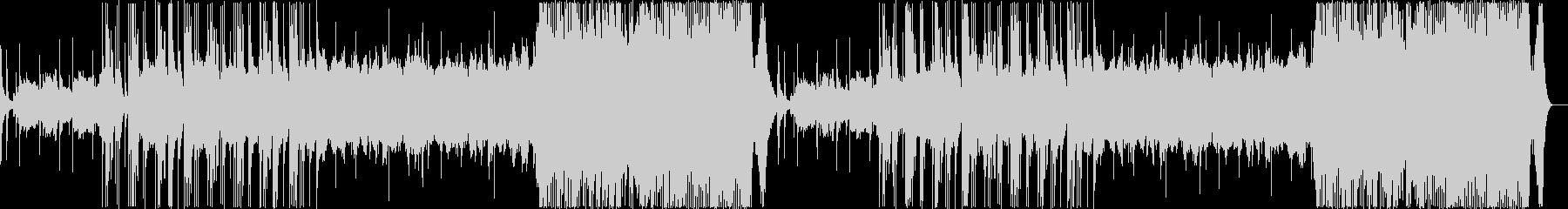津軽三味線が印象的で、壮大な和風曲の未再生の波形