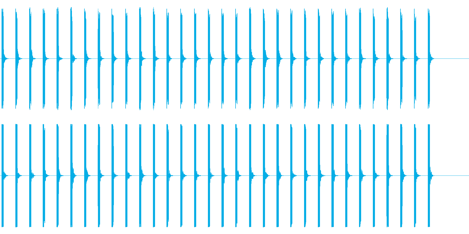 心電図の音-1-2(BPM50)の再生済みの波形