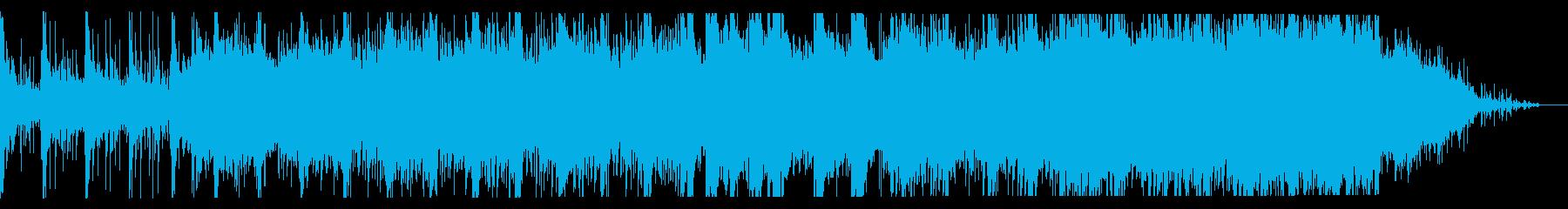 夜をイメージしたエレクトロニカの再生済みの波形