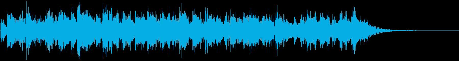 ニュースや情報番組のオープニング12秒の再生済みの波形