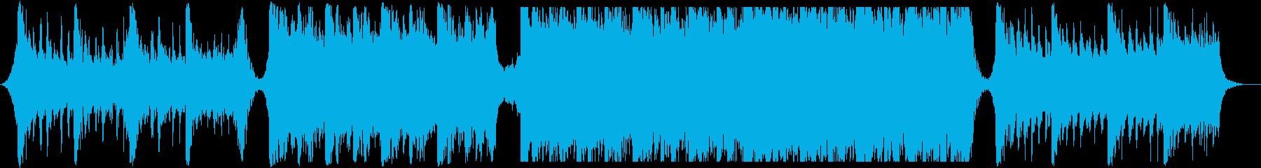 迫力あるトレイラー向けオーケストラの再生済みの波形