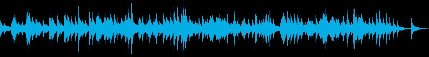 生演奏 シンプルな優しいピアノ曲の再生済みの波形