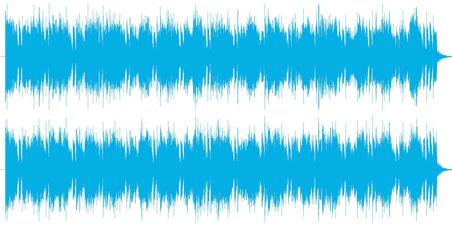 ミステリアス、緊張感そういった場面にピ…の再生済みの波形