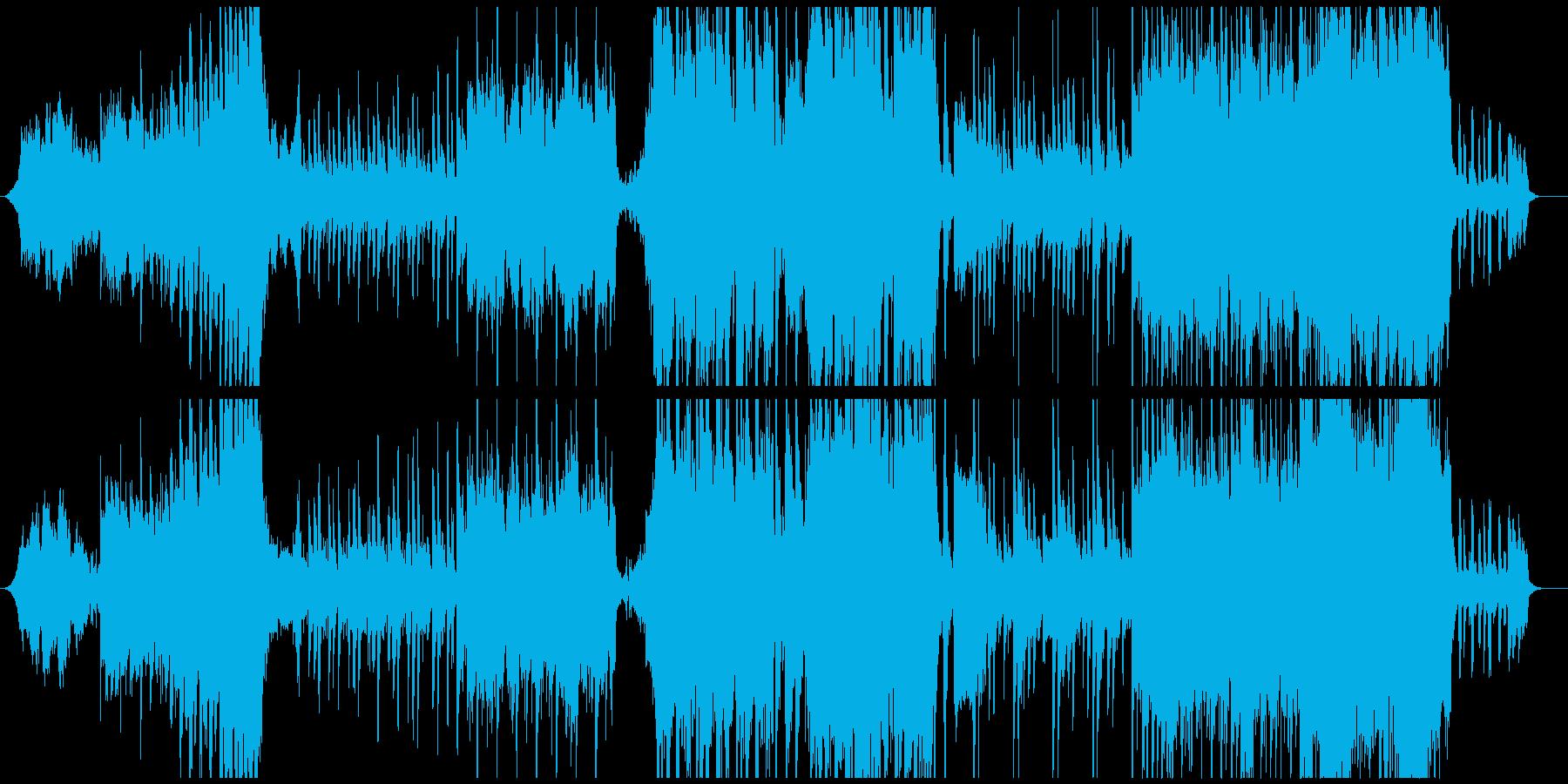 和風でテクノ、古風で未来な個性的な音楽の再生済みの波形