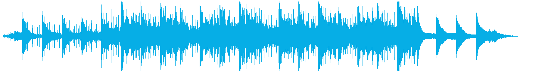 ピアノとSEの軽快なアンビエントの再生済みの波形