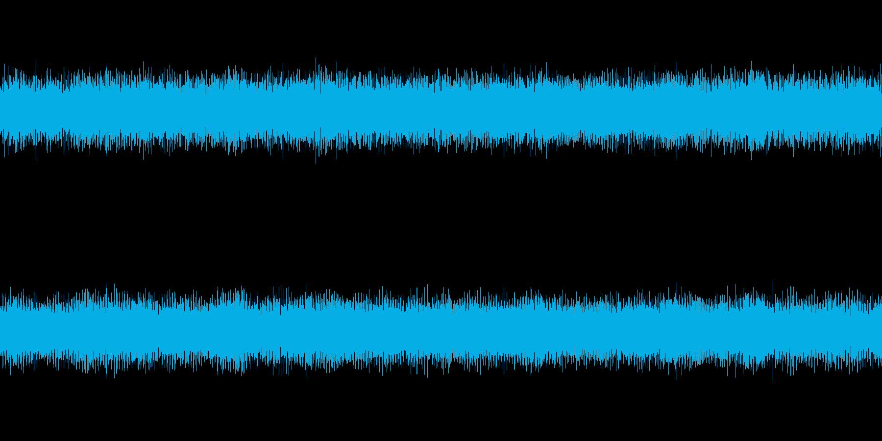 ノイズアンビエント系のホラー曲の再生済みの波形