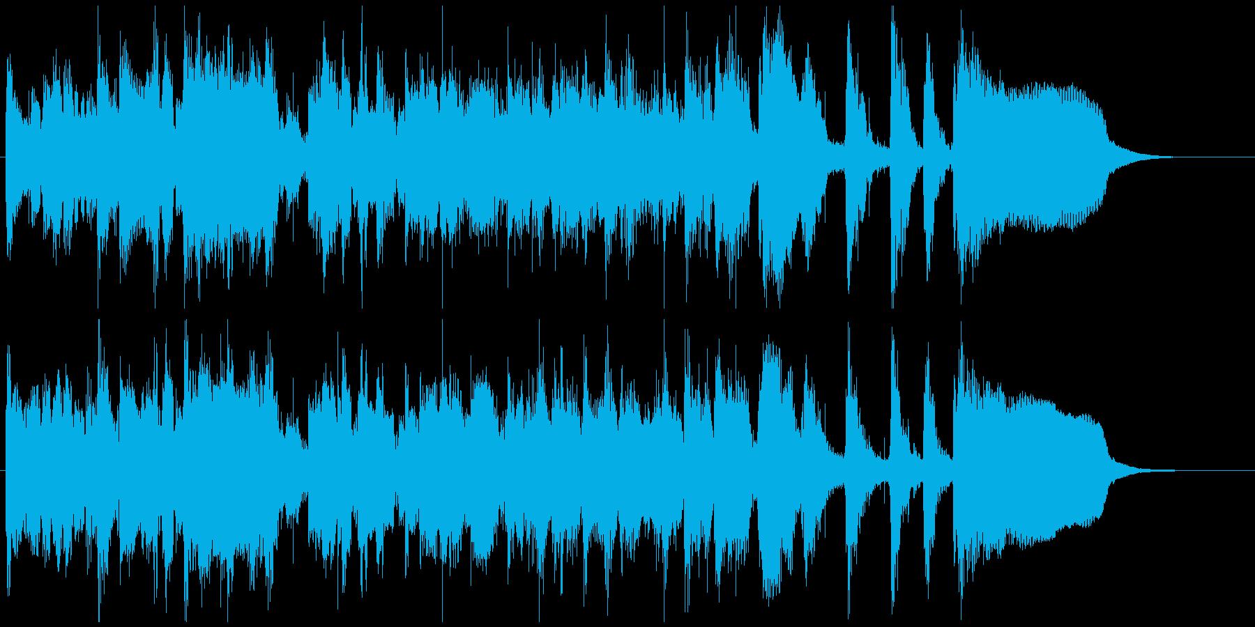 気分爽快で元気な明るいジャズ15秒CM用の再生済みの波形