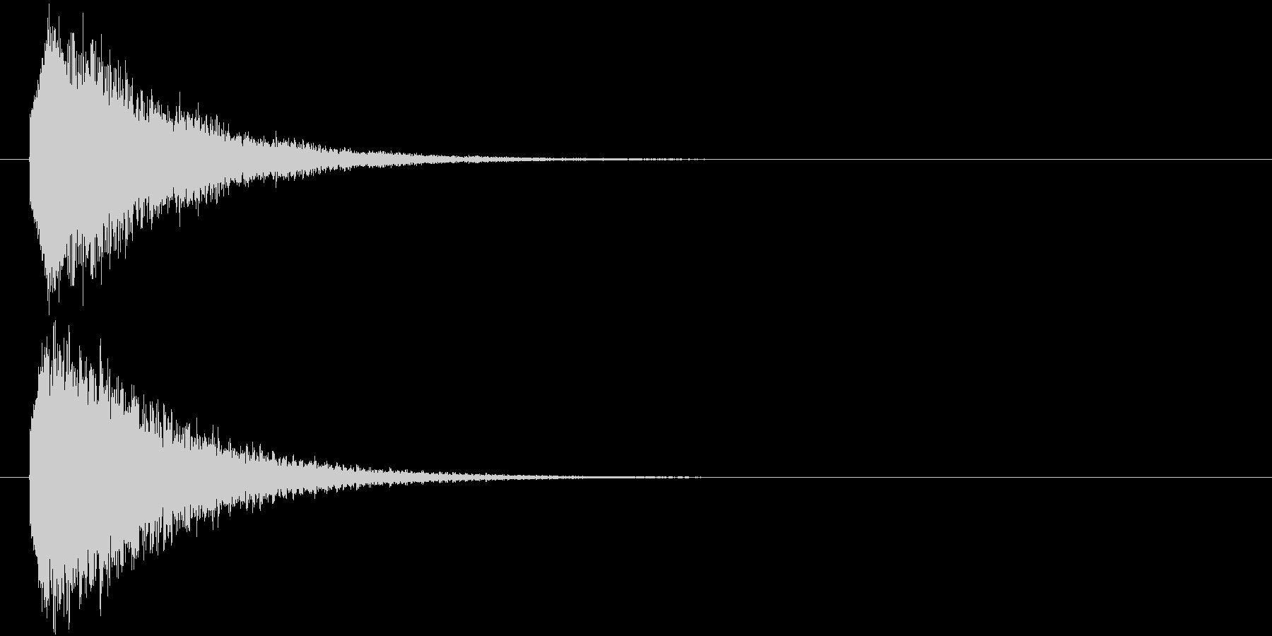 ファンタジーな光の柱 Light SEの未再生の波形