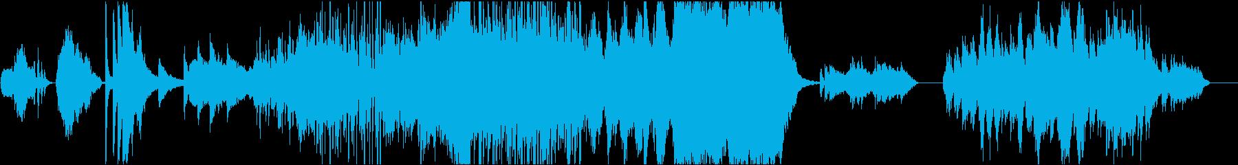 大自然生き物の様子 フルオケの再生済みの波形