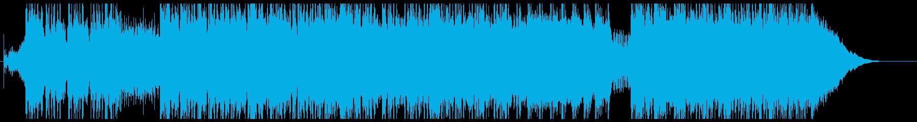 ギターの刻み中心ハードロックの再生済みの波形