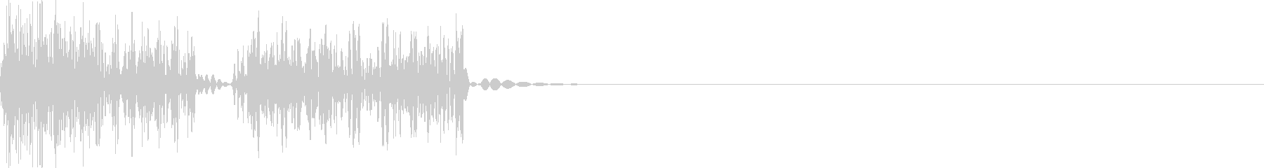 8bitなキャンセル音の未再生の波形