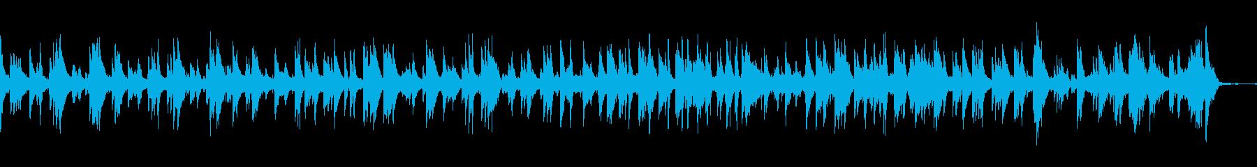 スローテンポのブルージーなジャズトラックの再生済みの波形