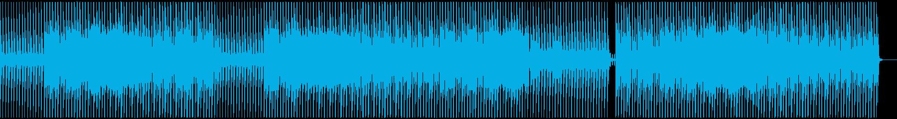 未来的でクールなミニマルテクノの再生済みの波形