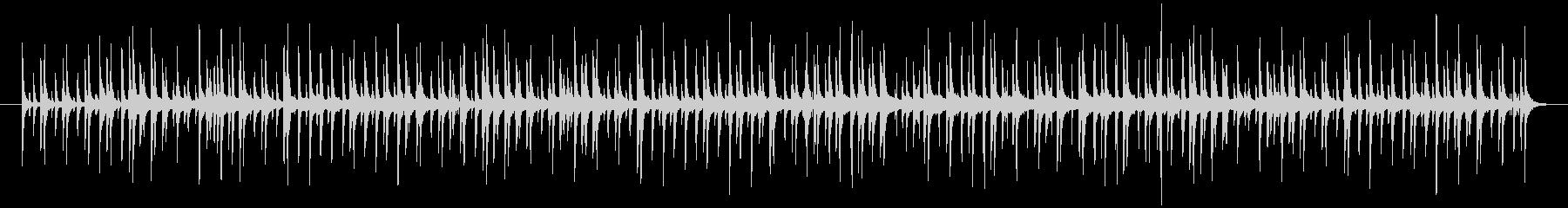 ハンドクラップやドラムが効いたポップな曲の未再生の波形