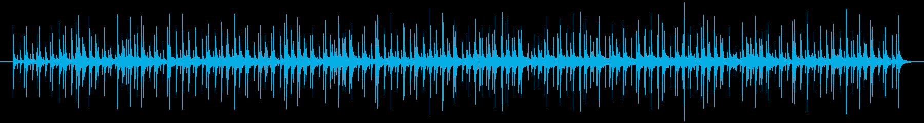 ハンドクラップやドラムが効いたポップな曲の再生済みの波形