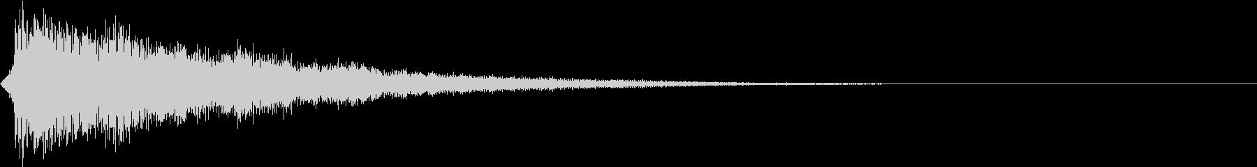 テロップ紹介(ラッパとピアノ:ポワン)の未再生の波形