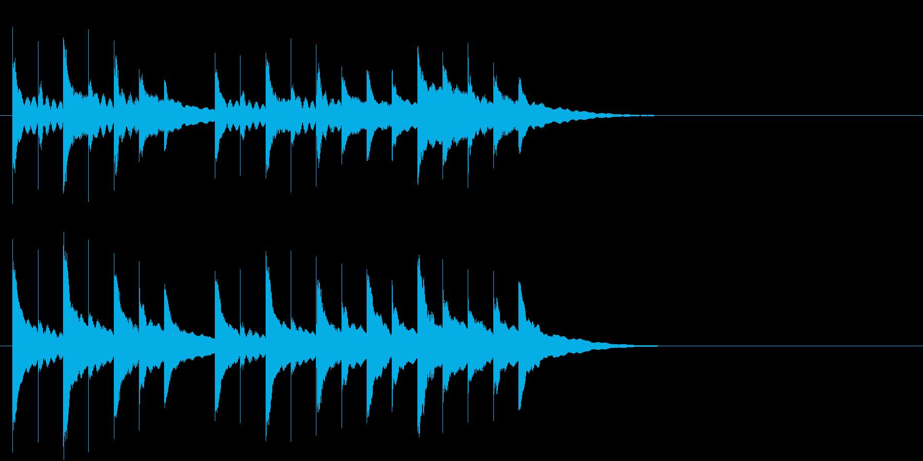 オルゴールのジングルの再生済みの波形