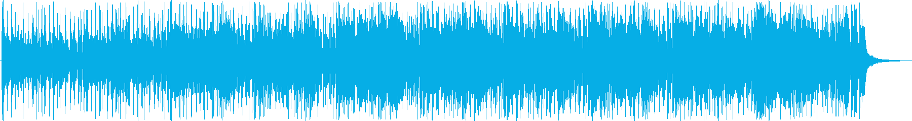 パーカッションのリズムが軽快な曲の再生済みの波形