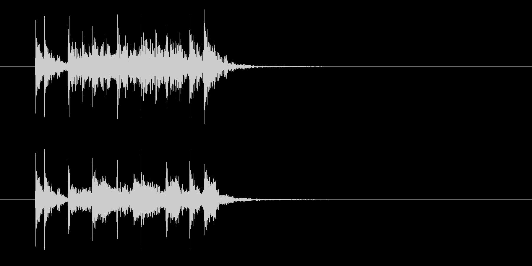 勢いとリズミカルなドラムジングルの未再生の波形