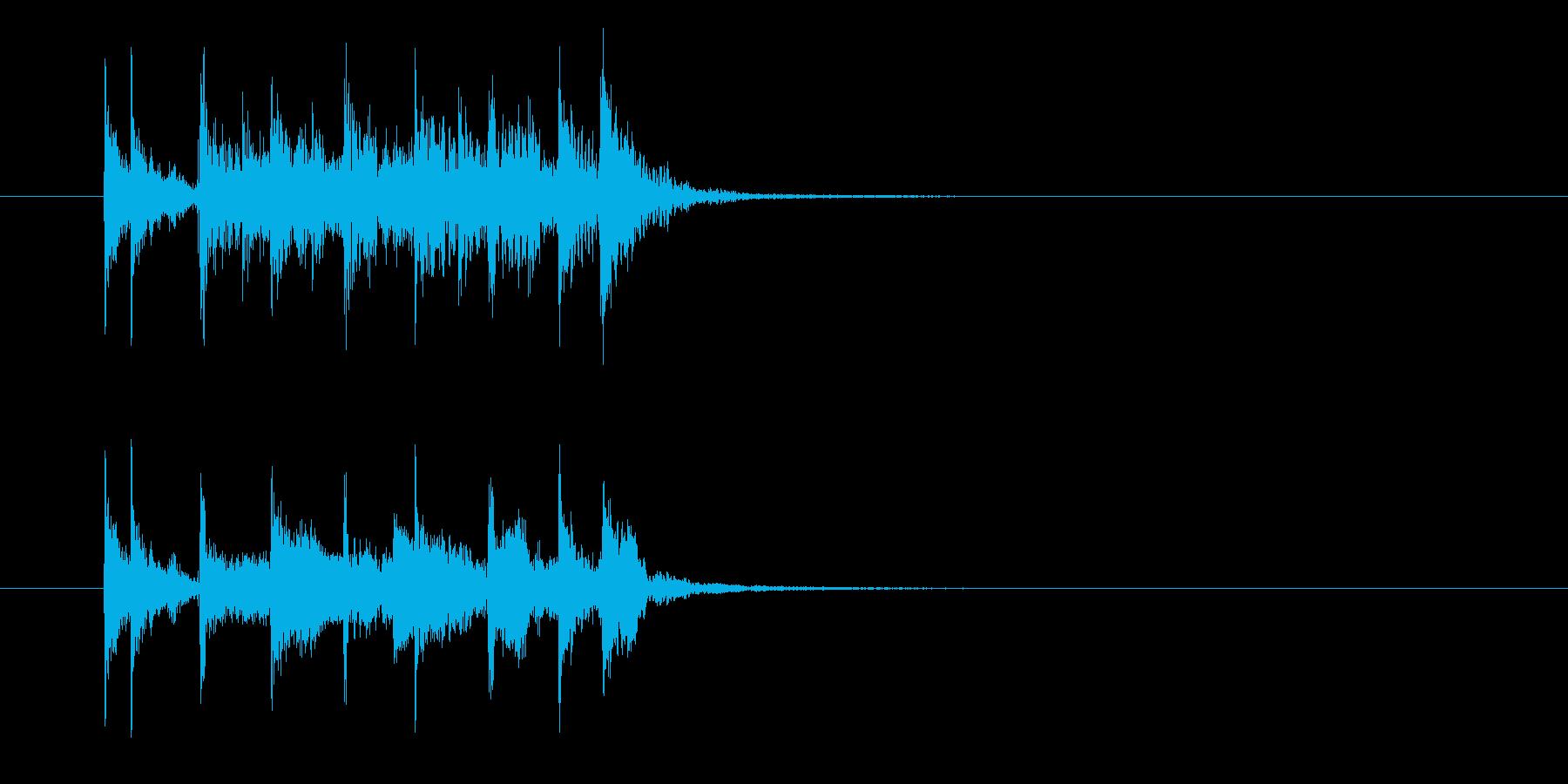 勢いとリズミカルなドラムジングルの再生済みの波形