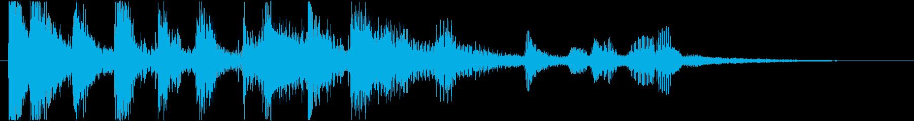 クールでシンプルなジングルの再生済みの波形