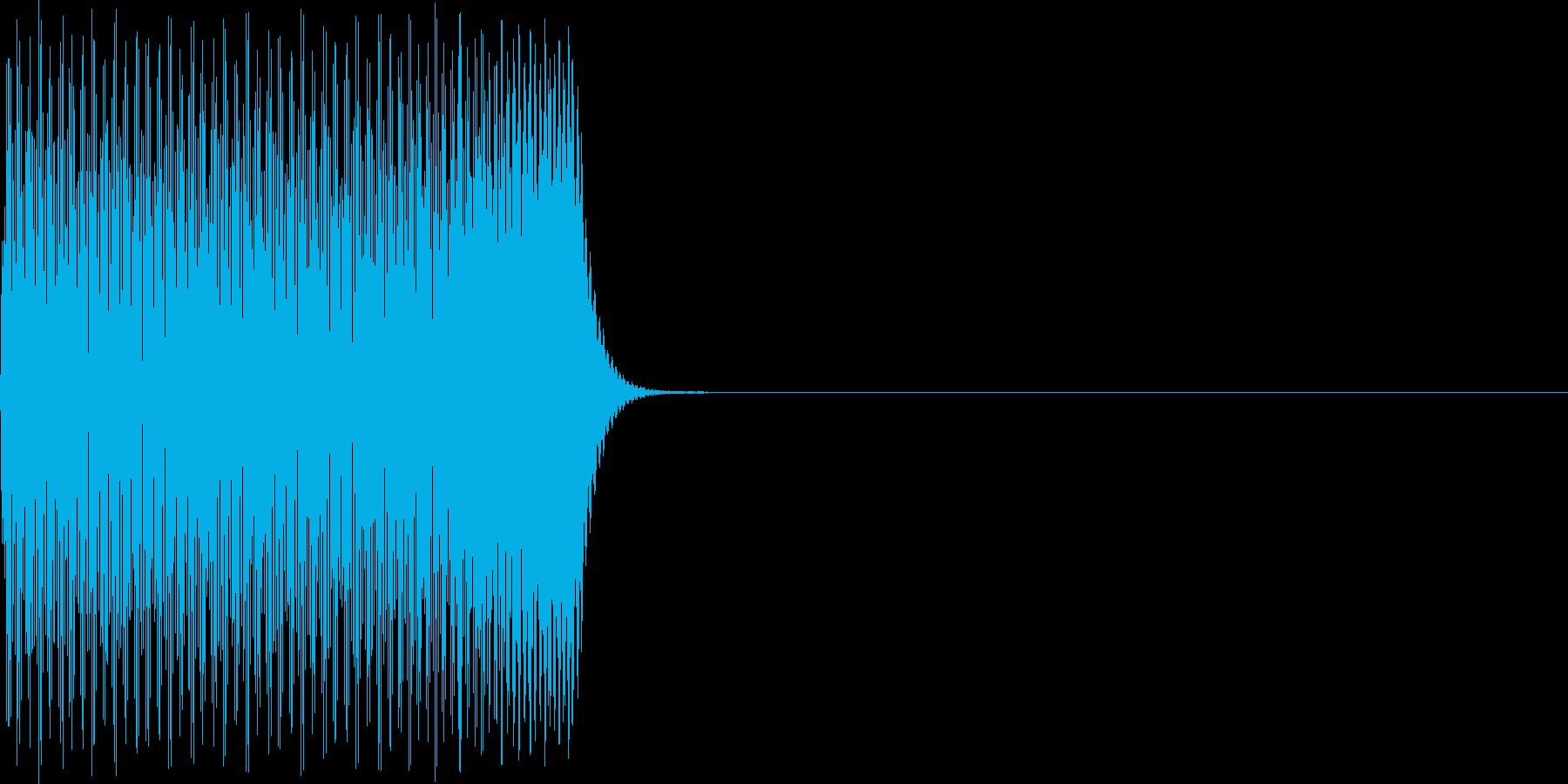 ポコーン(click_024_ボタン)の再生済みの波形
