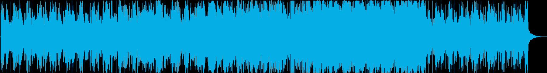 ダークでシリアスな徐々に盛り上がる劇伴の再生済みの波形