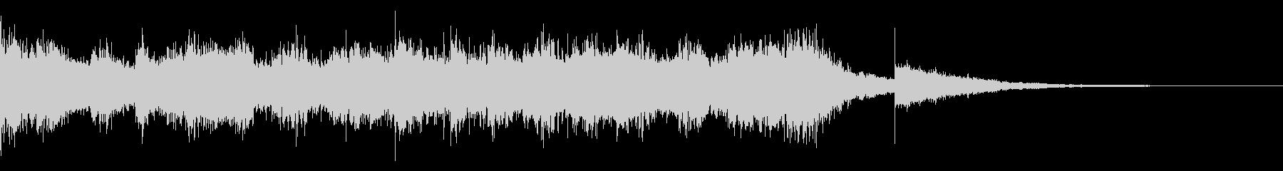 ピアノの切なく力強いBGM 短めの未再生の波形