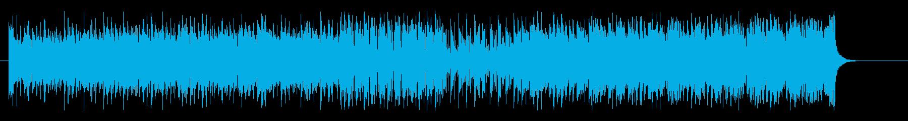 リズミカルなマイナーエレクトロシャッフルの再生済みの波形