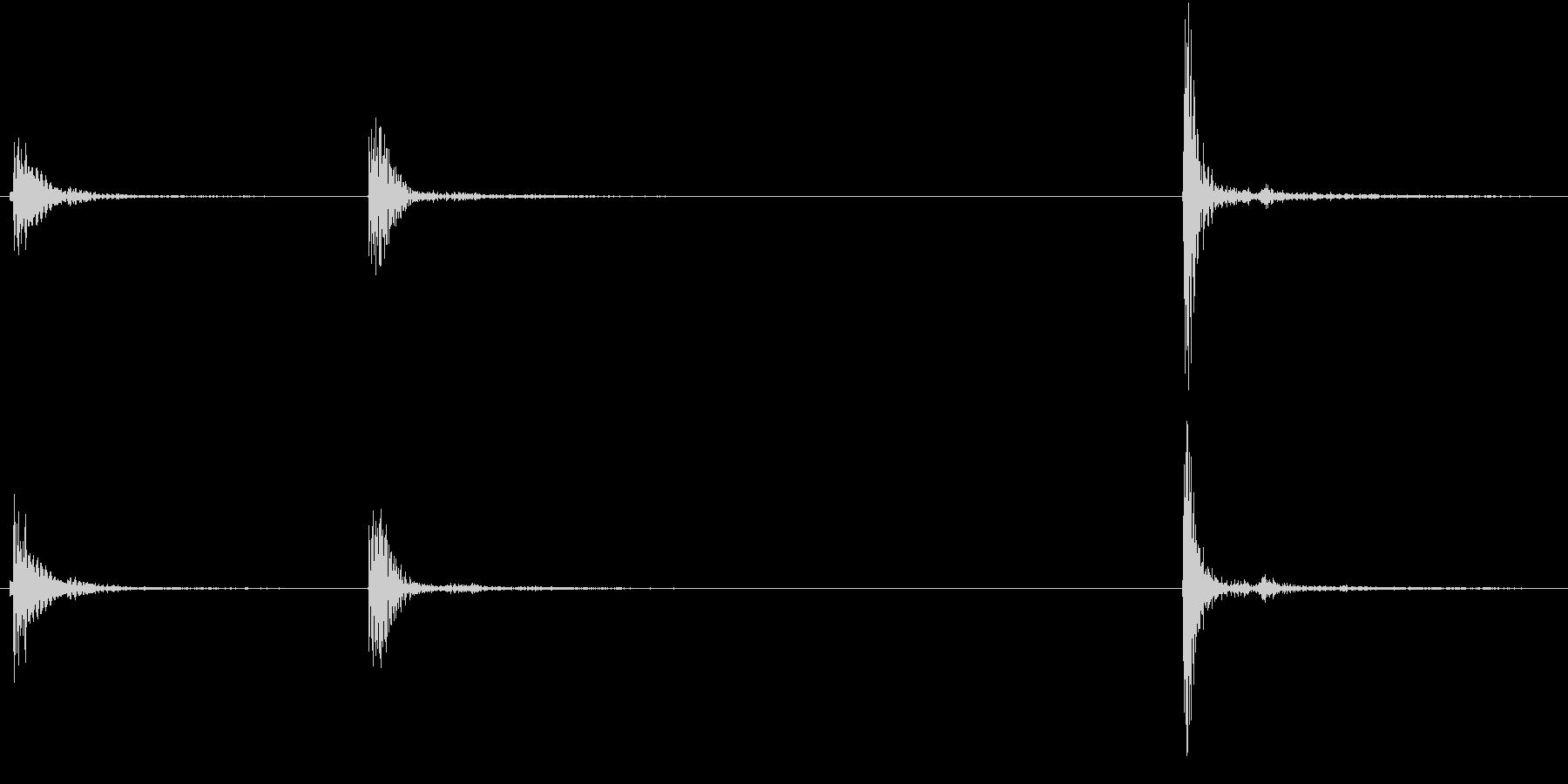 【生録音】お箸の音 14 片手にまとめるの未再生の波形
